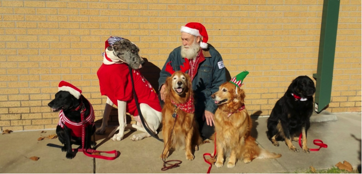 Carnegie Paw Pals Christmas Visit - Photo courtesy of Jeanne Diver